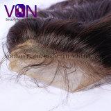 Peruca bonita de venda quente dianteira das mulheres da onda do cabelo humano da peruca 100% do laço