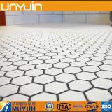 Plancher de vinyle de PVC d'hexagone de qualité