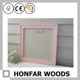 Frame de retrato de madeira da parede cor-de-rosa do presente do retângulo