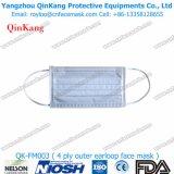 Mascarilla plana del polvo Bfe99 del doblez protector y respirador de partículas disponible Qk-FM016