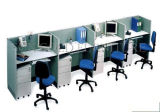 Poste de travail rond de bureau de compartiment moderne bon marché de partition en verre (SZ-WST769)