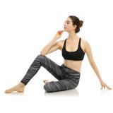 Mistura nova do projeto de linhas preto e branco calças da ioga do desgaste dos esportes das mulheres