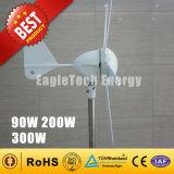 sistema solar das energias eólicas do gerador da turbina de vento 200W para o revérbero