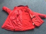 Paño grueso y suave desmontable calentado de la chaqueta de la montaña de las mujeres, chaqueta de la fiebre, 3 en 1 chaqueta, chaqueta del paño grueso y suave