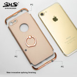 Shs Rubberized il PC placcante rivestito 3 in 1 cassa del telefono delle cellule per il iPhone 7