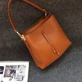 Neue einfache Art-Frauen-Handtaschen-weiche echtes Leder-Schulter-Beutel für Damen Emg4960