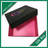 Empaquetado cosmético de papel rígido del rectángulo de la impresión de encargo de la insignia
