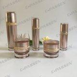 化粧品の包装のための30gローズ金の円形のアクリルのクリーム色の瓶(PPC-ACJ-114)