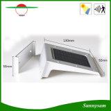 Iluminación solar exterior al aire libre Pinhole Switch 20LED Luz de pared solar con sensor de movimiento PIR
