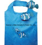 Bolso promocional de las compras plegables, estilo tropical animal de los pescados, reutilizable, regalos