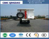 Cimc低価格のダンプカーのダンプのトレーラーを半ひっくり返す3車軸