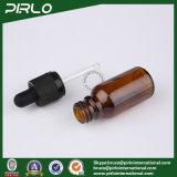 20ml 30ml 50ml 100ml bernsteinfarbige Luxuxglasflaschen E-Flüssigkeit Glastropfenzähler-Flaschen