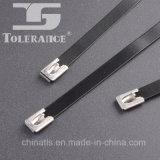 Serres-câble enduits d'acier inoxydable de polyester chaud d'arrêt