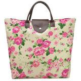 Women' S Nylon Waterproof Handbag Flower Print Tote Bag