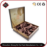 Logo personnalisé bronzant le cadre de papier de empaquetage de cadeau