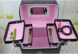 Expandbale 4개의 쟁반을%s 가진 아름답고 간단한 메이크업 상자