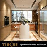 カスタマイズされた現代贅沢な台所デザイン木製のホーム家具の食器棚Tivo-0022V