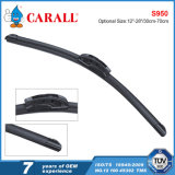 S950 High Carbon Stainless Steel Auto Parts Acessórios para carro Rhd LHD U-Hook Clear View Flat Wiper Blade
