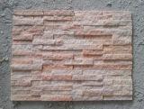 Comitato di parete nero dentellare beige naturale caldo dell'impiallacciatura della pietra dell'ardesia della Cina