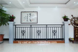 Barandilla de acero galvanizada decorativa de alta calidad 14 del balcón de la aleación de Haohan Alluminum