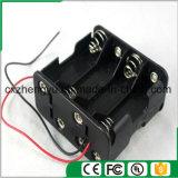 8AA zurück zu rückseitiger Batteriehalterung mit den roten/schwarzen Leitungen