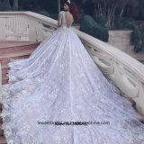 Alineada de boda nupcial de los cristales de los vestidos de bola de las fundas largas 2017 M2889