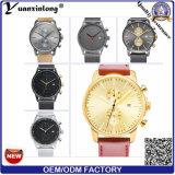 Yxl-422 Horloges van de Mensen van de Hand van de Chronograaf van het Horloge van het Roestvrij staal van de Polshorloges van de Band van het Netwerk van de Plaat van het Horloge van de Mensen van de Luxe van de manier de Gouden Mechanische Promotie