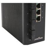 IP40 interruptor óptico óptico rápido del SFP de 2 gigabites de fibra de Ethernet 4 del interruptor 4