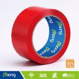 Bande de empaquetage rouge de l'adhésif OPP de couleur de film de BOPP
