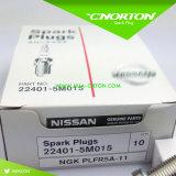 Bougie d'allumage de Ngk Plfr5a de véhicule de qualité pour Nissans (22401-5M015)