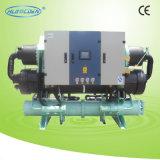 Refrigerador refrigerado por agua industrial del tornillo doble del compresor