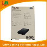 Коробка черноты конструкции Attrative бумажная для шлемофона упаковывая с пластичной индикацией окна PVC