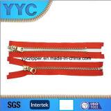 Zipper novo do metal da extremidade aberta da chegada 5# para vestuários