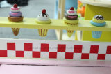Educação de madeira Kids Ice-Cream Car Pretend Shop Play Children DIY Toys