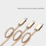 Telefon 3-in-1 USB-aufladenaufladeeinheits-Kabel für Samsung iPhone Typen-c