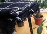 새로운 가을과 겨울 모조 캐시미어 천 한 쌍 까만 격자 무늬 스카프