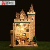 Des Guangzhou-3D wünscht hölzerner Spielzeug-bester Freund-Geburtstag Puzzlespieldollhouse-DIY Mondschein-Schloss