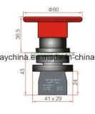 Dia22mm-La118keem6 de Schakelaar van de Drukknop van de Noodsituatie, Rode, Groene Kleuren, Voltage 6V-380V