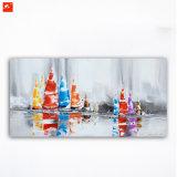 Pittura Handmade astratta della tela di canapa per la corsa di navigazione