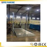 Ongroundのガレージで使用されるセダンのための二重郵便車の駐車上昇