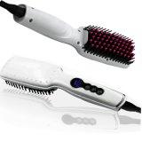 Cheveu professionnel redressant le balai - cheveu droit électrique de peigne de fer rapidement dénommant le balai avec l'écran LCD