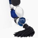 Braccialetto elastico di fascino della nappa di stirata del braccialetto delle donne dei branelli dell'azzurro di modo