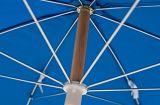 7.5フィートの灰木ポーランド人が付いている鋼鉄商業用等級のビーチパラソル