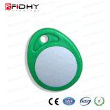 M6 + Etiqueta Dual Keyfob de la Frecuencia RFID de la Viruta de MIFARE