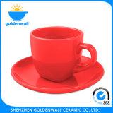 '' Taza de café de la porcelana 180ml/5 colorido con el platillo