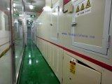 Línea de recubrimiento UV transportada por husillo con metalización de vacío