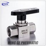 Vanne à robinet manuelle d'opération d'acier inoxydable pour la pression (MG-B-NPT1/2, MAGNÉSIUM-B-G1/2)