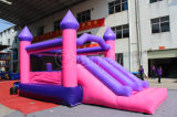 Castillo animoso inflable rosado con la diapositiva Chb573