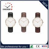 Vigilanza di signore degli uomini d'acciaio del quarzo dell'orologio di sport delle vigilanze di modo (DC-1097)