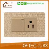 고품질 3 갱 보편적인 전기 벽면 소켓
